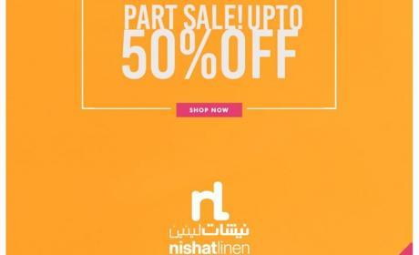 25% - 50% Sale at Nishat Linen, September 2017