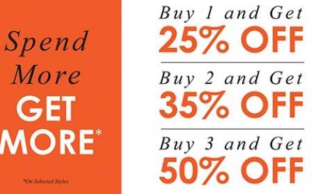 Buy 3 and Get 50% off Offer at Nose, November 2016
