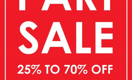 25% - 70% Sale at Nose, August 2016