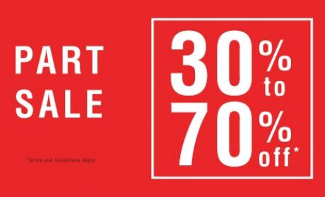 30% - 70% Sale at Nose, May 2017