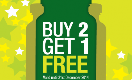 Buy 2 and get 1 Offer at Nutrition Zone, December 2014