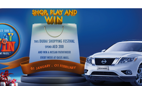 Spend 200 and win a Nissan Pathfinder every week Offer at Oasis Centre, February 2016
