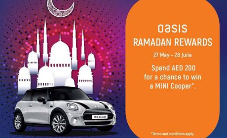 Spend 200 and stand a chance to Win a Mini Cooper this Ramadan Offer at Oasis Centre, June 2017