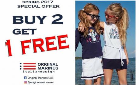 Buy 2 and get 1 Offer at Original Marines, June 2017