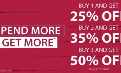 Buy 3 and Get 50% off on Kids footwear Offer at Pablosky, November 2016