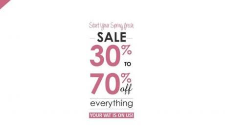 30% - 70% Sale at PAN EMIRATES, April 2018