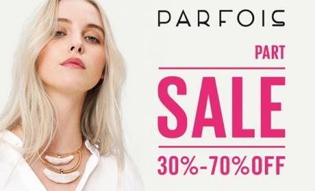 30% - 70% Sale at Parfois, August 2017