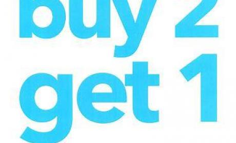 Buy 2 and get 1 Offer at Payless, June 2018