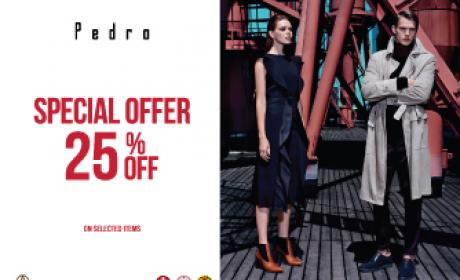 Up to 25% Sale at Pedro, December 2015