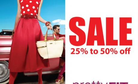 25% - 50% Sale at Pretty fit, September 2014