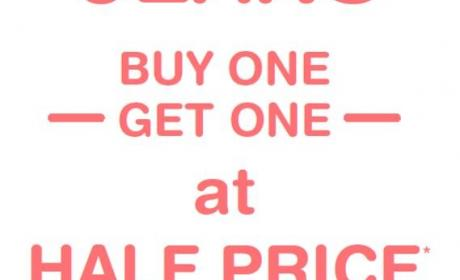 Buy 1 And get one at half price Offer at Promod, February 2018