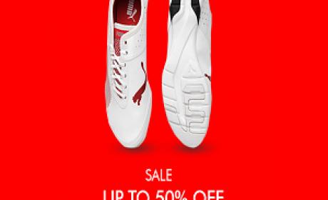 25% - 50% Sale at Puma, July 2016