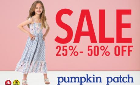 25% - 50% Sale at Pumpkin Patch, August 2016