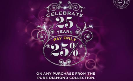 Up to 25% Sale at PURE GOLD JEWELLERS, December 2014