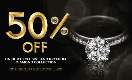 Up to 50% Sale at PURE GOLD JEWELLERS, September 2017