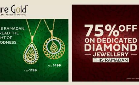 Up to 75% Sale at PURE GOLD JEWELLERS, June 2018