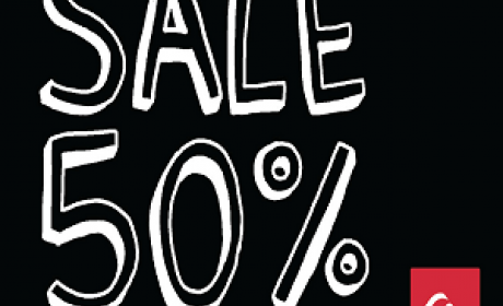 30% - 50% Sale at Quiksilver, January 2018