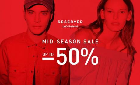 25% - 50% Sale at Reserved, July 2017