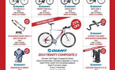 25% - 75% Sale at Ride Bike, September 2014