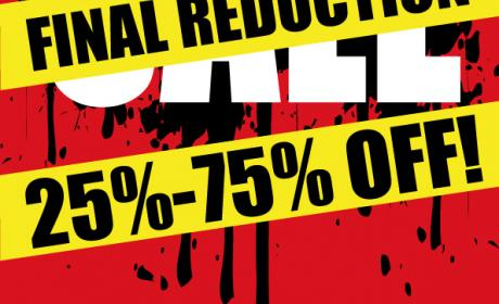 25% - 75% Sale at Rip Curl, February 2015