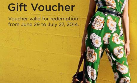 Spend 500 and win AED 100 gift voucher. Offer at River Island, July 2014