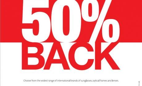 Spend 300 and get 50% back as gift vouchers Offer at Rivoli EyeZone, February 2016