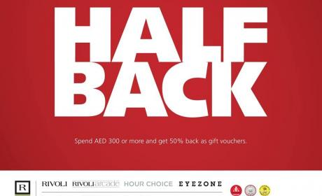 Spend 300 and get 50% back in form of vouchers Offer at Rivoli, July 2017