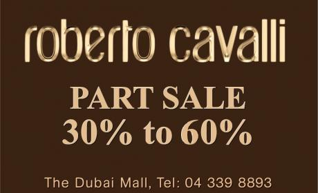 30% - 60% Sale at Roberto Cavalli, February 2015