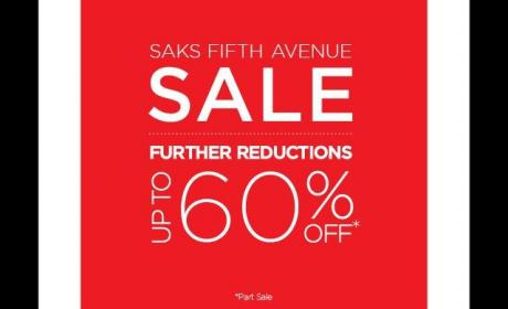 Up to 60% Sale at Saks Fifth Avenue, June 2014
