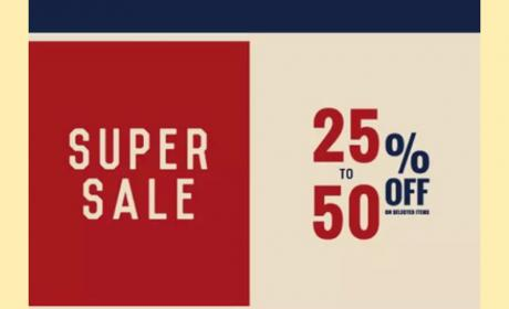 25% - 50% Sale at Salsa Jeans, May 2018