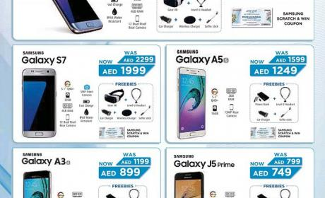 Spend 499 and get guaranteed instant cash back upto AED 10,000 Offer at Samsung, November 2016