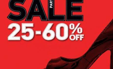 25% - 60% Sale at Shoe Mart, November 2015