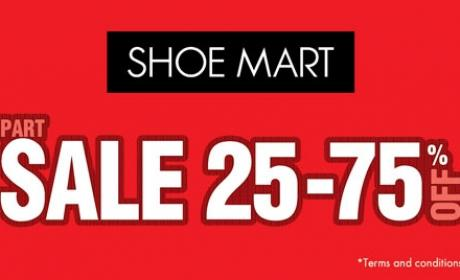 Up to 75% Sale at Shoe Mart, January 2016