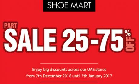 25% - 75% Sale at Shoe Mart, January 2017