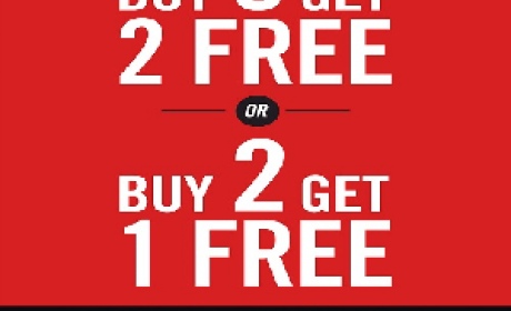 Buy 3 and get 2 Offer at Shoe Studio, May 2016