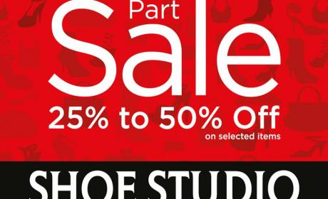 25% - 50% Sale at Shoe Studio, July 2014