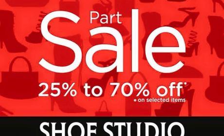 25% - 70% Sale at Shoe Studio, February 2016