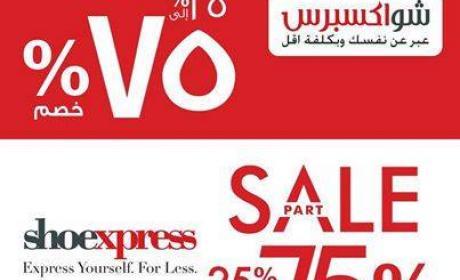 25% - 75% Sale at Shoexpress, May 2017