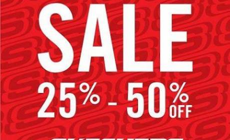 25% - 50% Sale at Skechers, December 2016