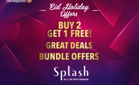 Buy 2 and get 1 Offer at Splash, July 2016