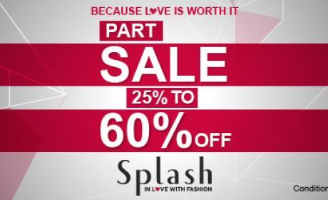 Up to 60% Sale at Splash, December 2015