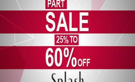 25% - 60% Sale at Splash, January 2017