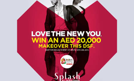 Spend 250 and you might be a winner of a AED 20,000 grand makeover by an international make up and hair stylist brought to you by Splash. Offer at Splash, February 2015