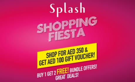 Spend 350 & Get AED 100 gift voucher & many more deals Offer at Splash, November 2016