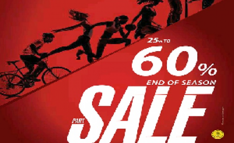 25% - 60% Sale at SPORTSONE, May 2016