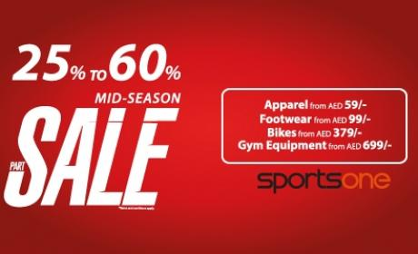 25% - 60% Sale at SPORTSONE, October 2016