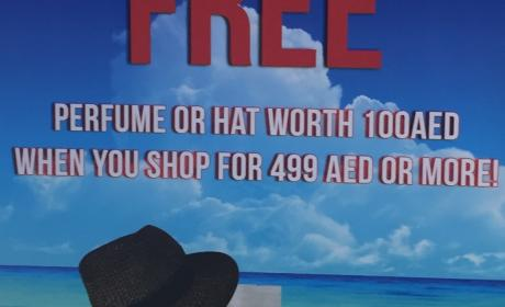 Spend 499 And get a perfume or hat worth 100 AED Offer at Springfield, April 2017