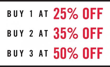 Buy 3 and Get 50% off Offer at Steve Madden, November 2016