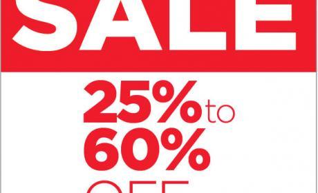 25% - 60% Sale at Steve Madden, August 2016