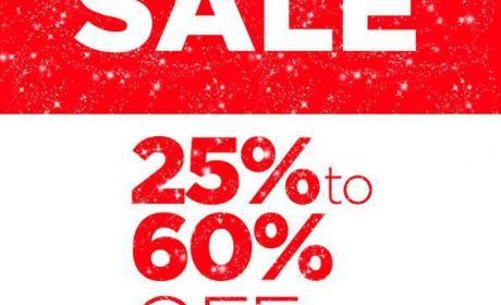 25% - 60% Sale at Steve Madden, November 2017